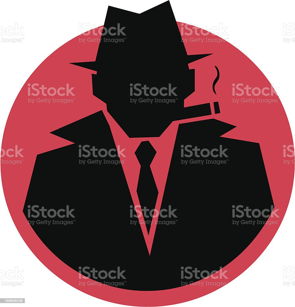 Sillouhette Gangster vector art illustration