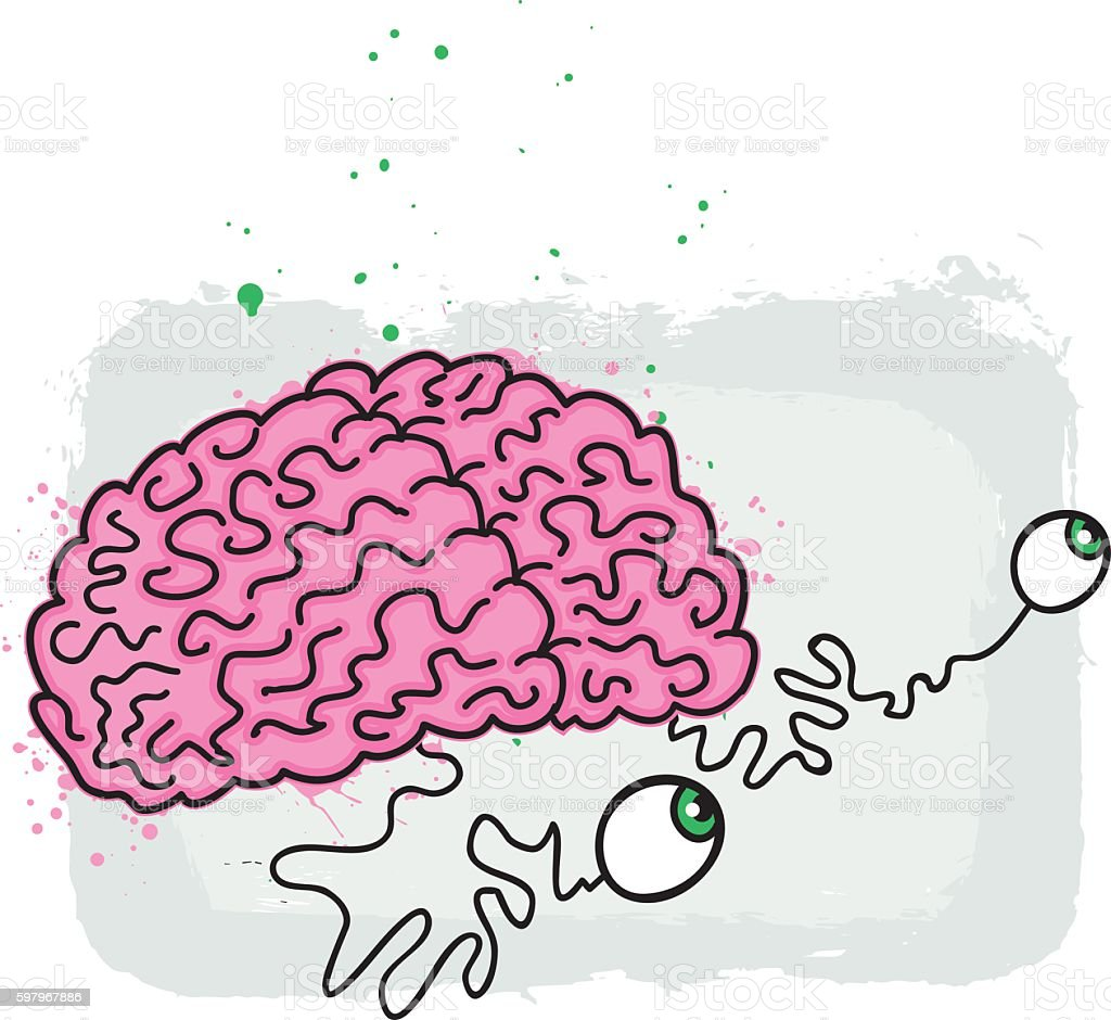 Silly Brain Illustration vector art illustration