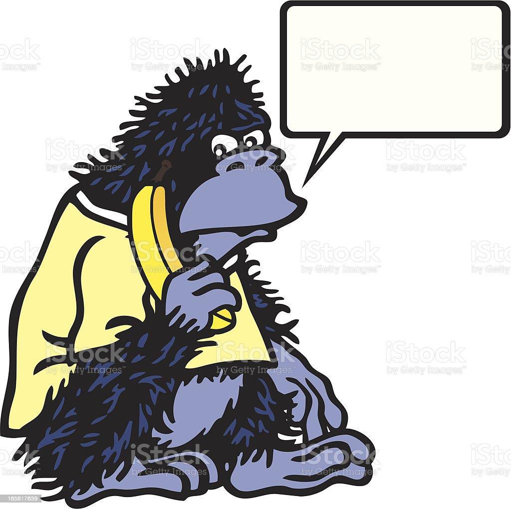 Silly Gorilla vector art illustration