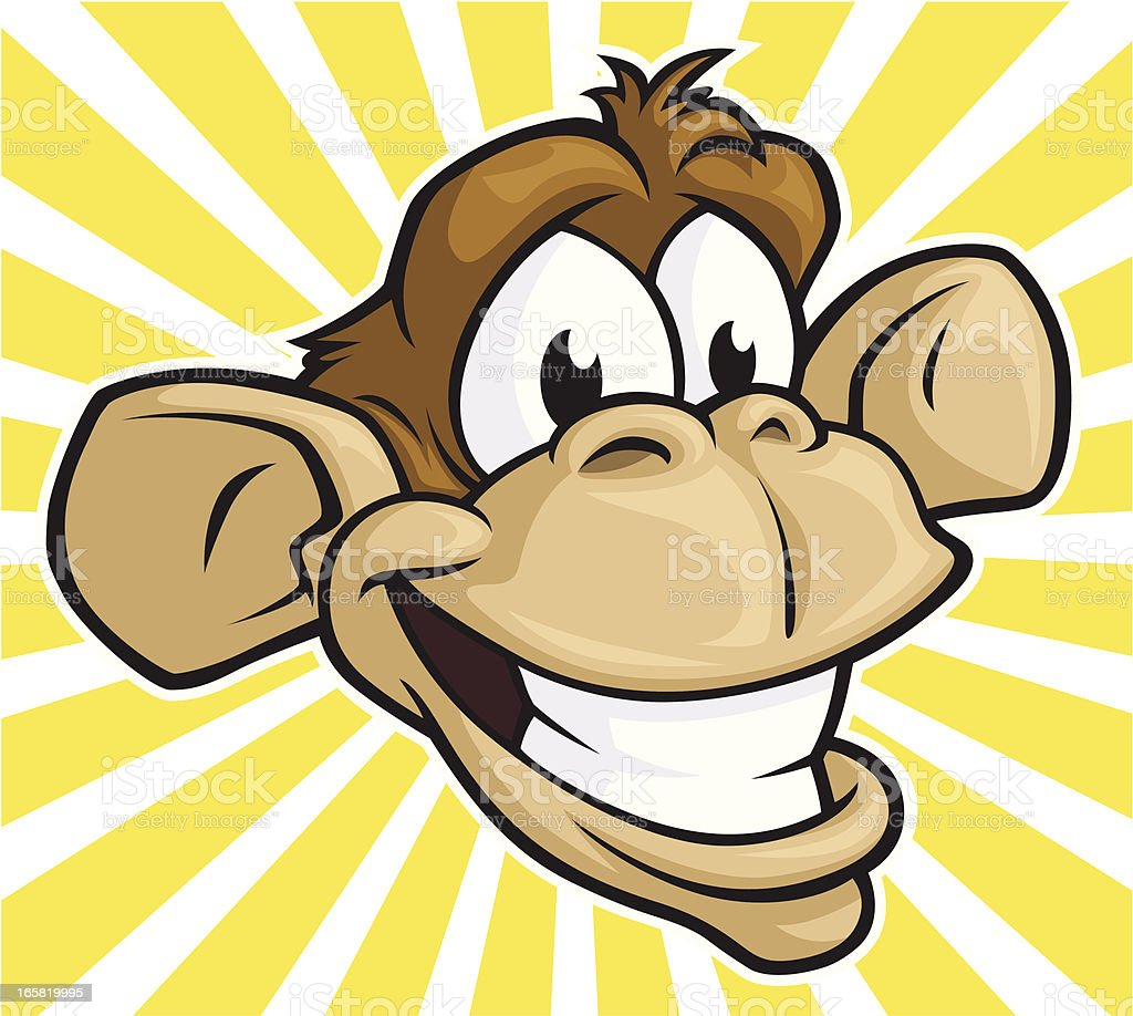 Silly Monkey royalty-free stock vector art