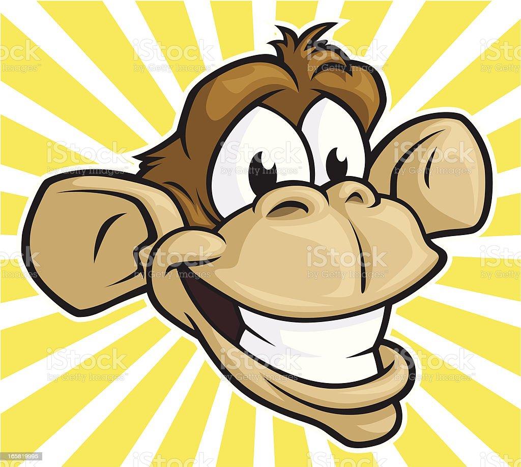 Silly Monkey vector art illustration