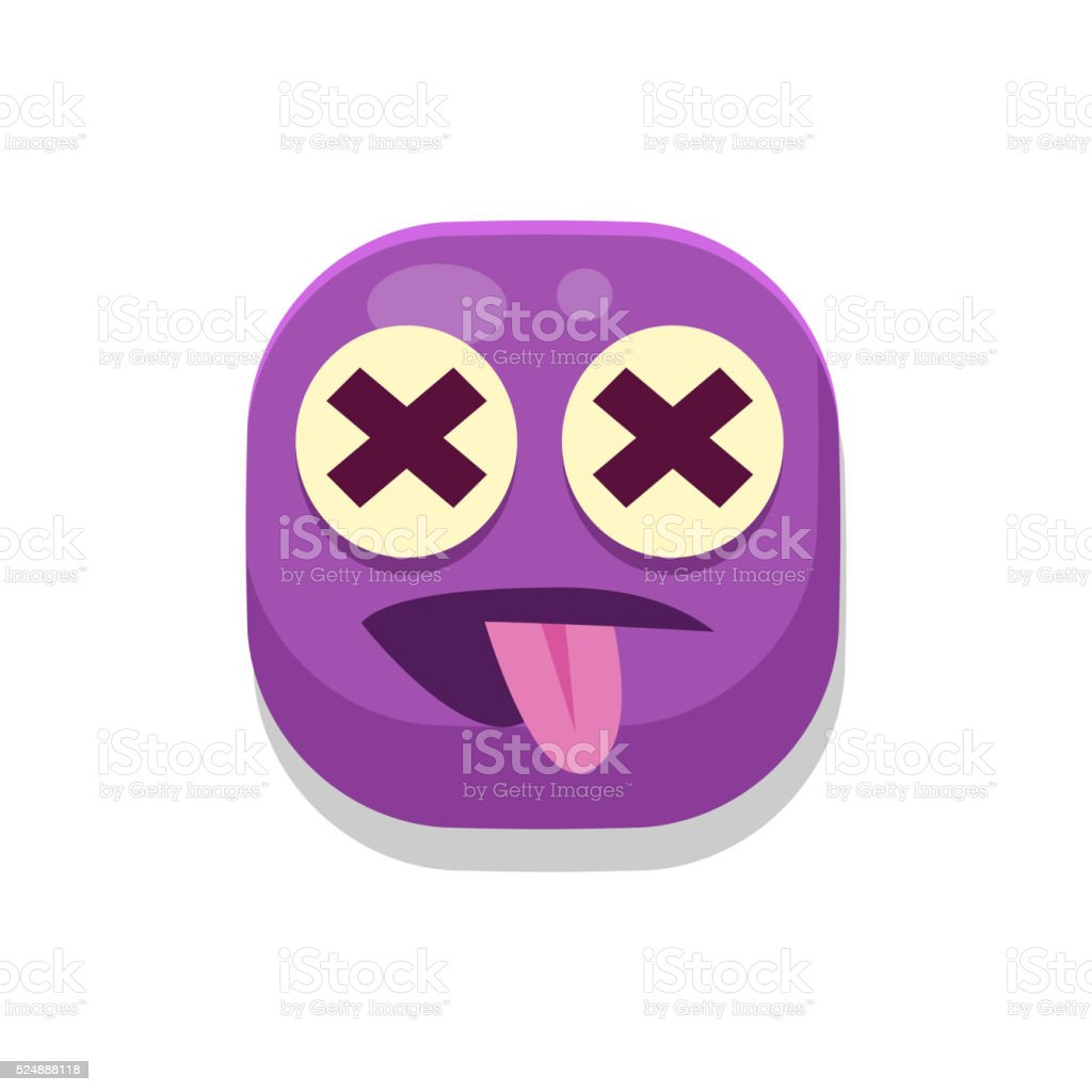 Silly Monster Square Icon vector art illustration