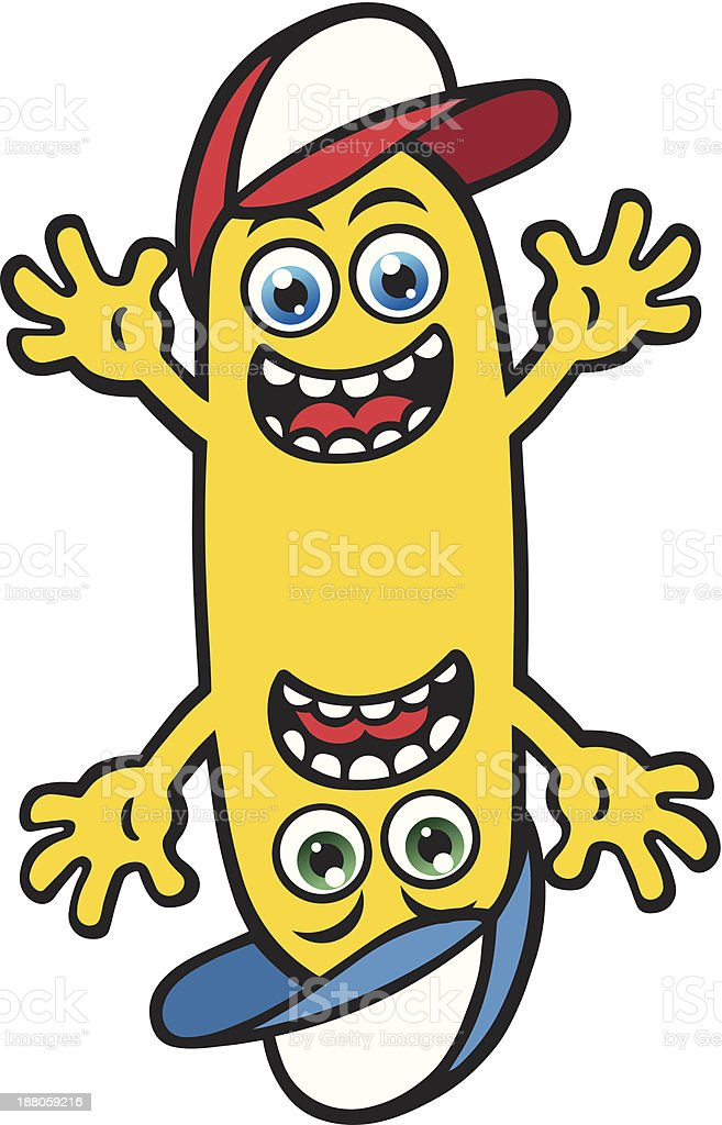 Silly Mr Yellow royalty-free stock vector art