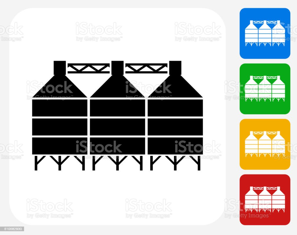 Silo Icon Flat Graphic Design vector art illustration
