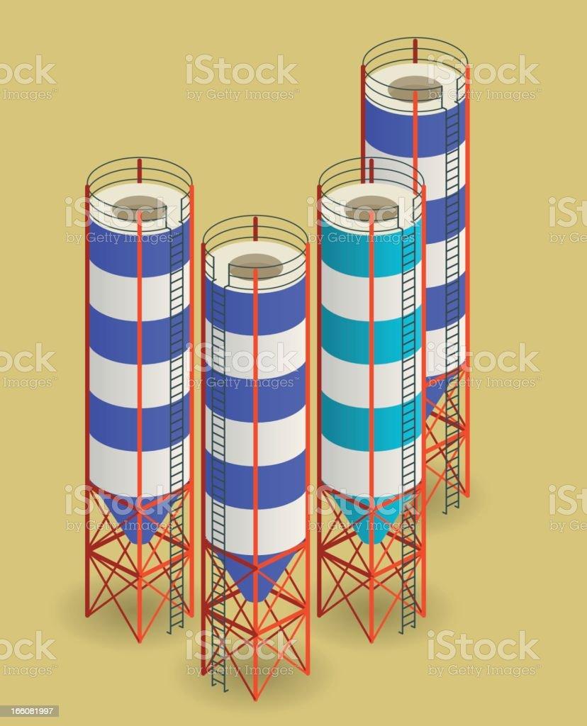 silos royalty-free stock vector art