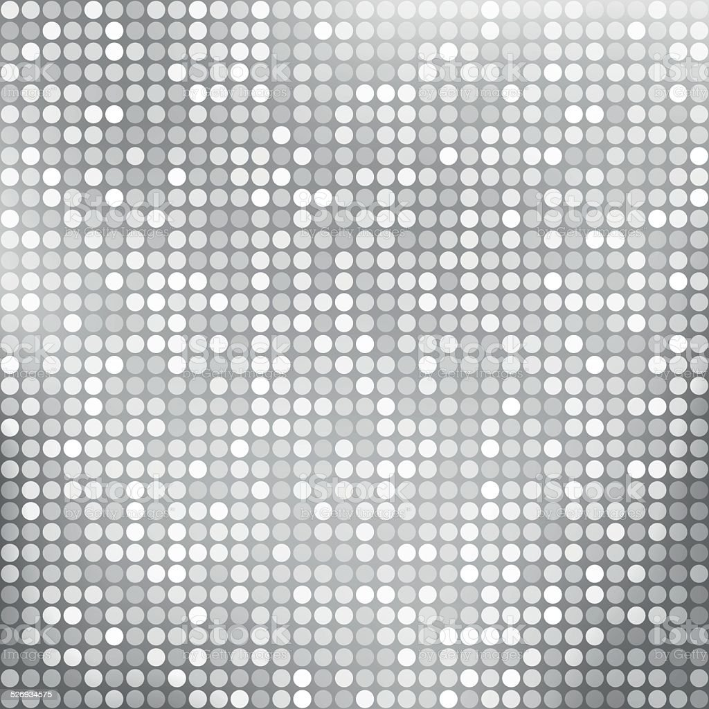 Silver abstract background with dots vector art illustration