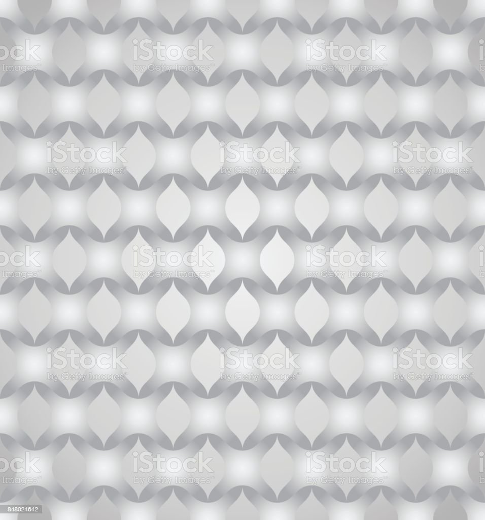 Silver Abstract Cross Pattern on Pastel Color vector art illustration