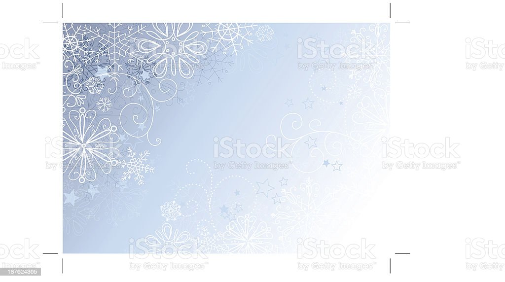 silver and blue christmas background royalty-free stock vector art