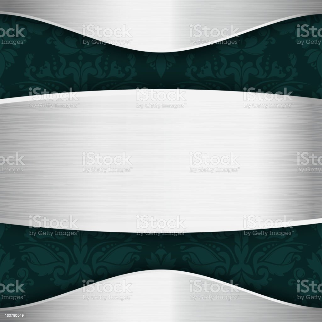 Silver and blue-green template royalty-free stock vector art