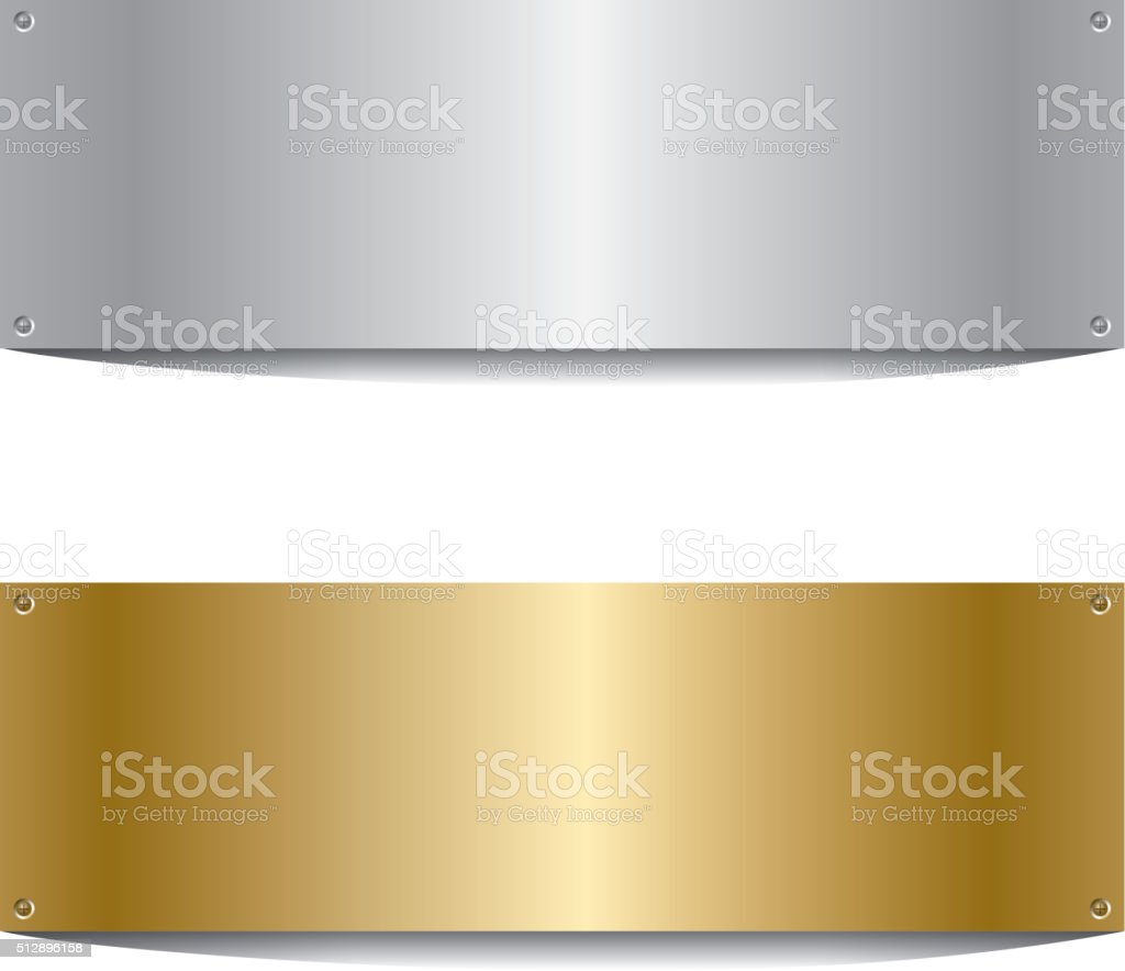 Silver and golden board vector art illustration