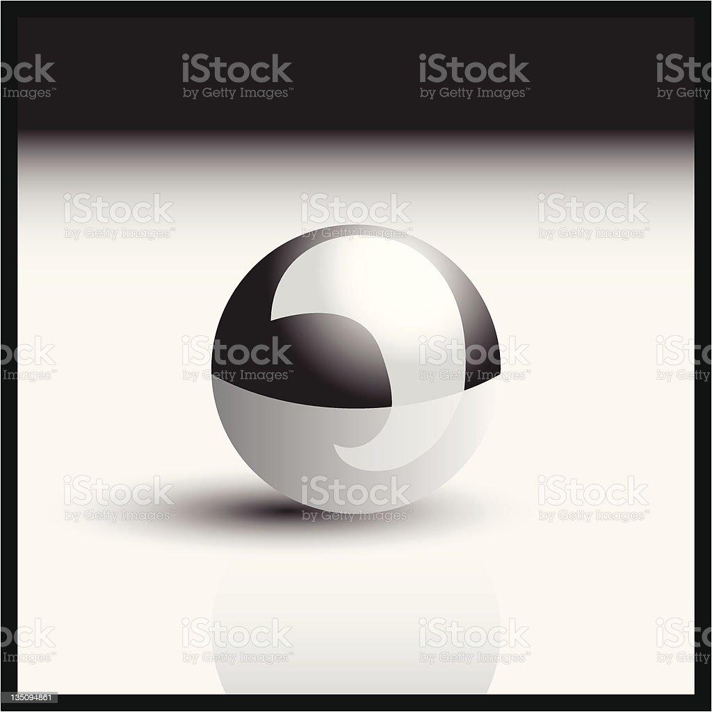 Silver ball vector art illustration