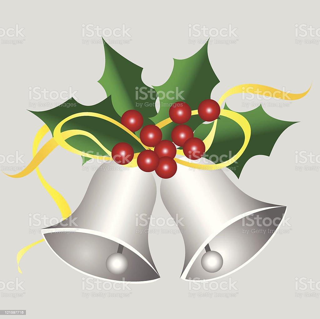 silver bells vector art illustration