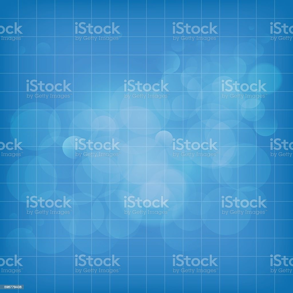 Silver blue bubble background with grid vector art illustration