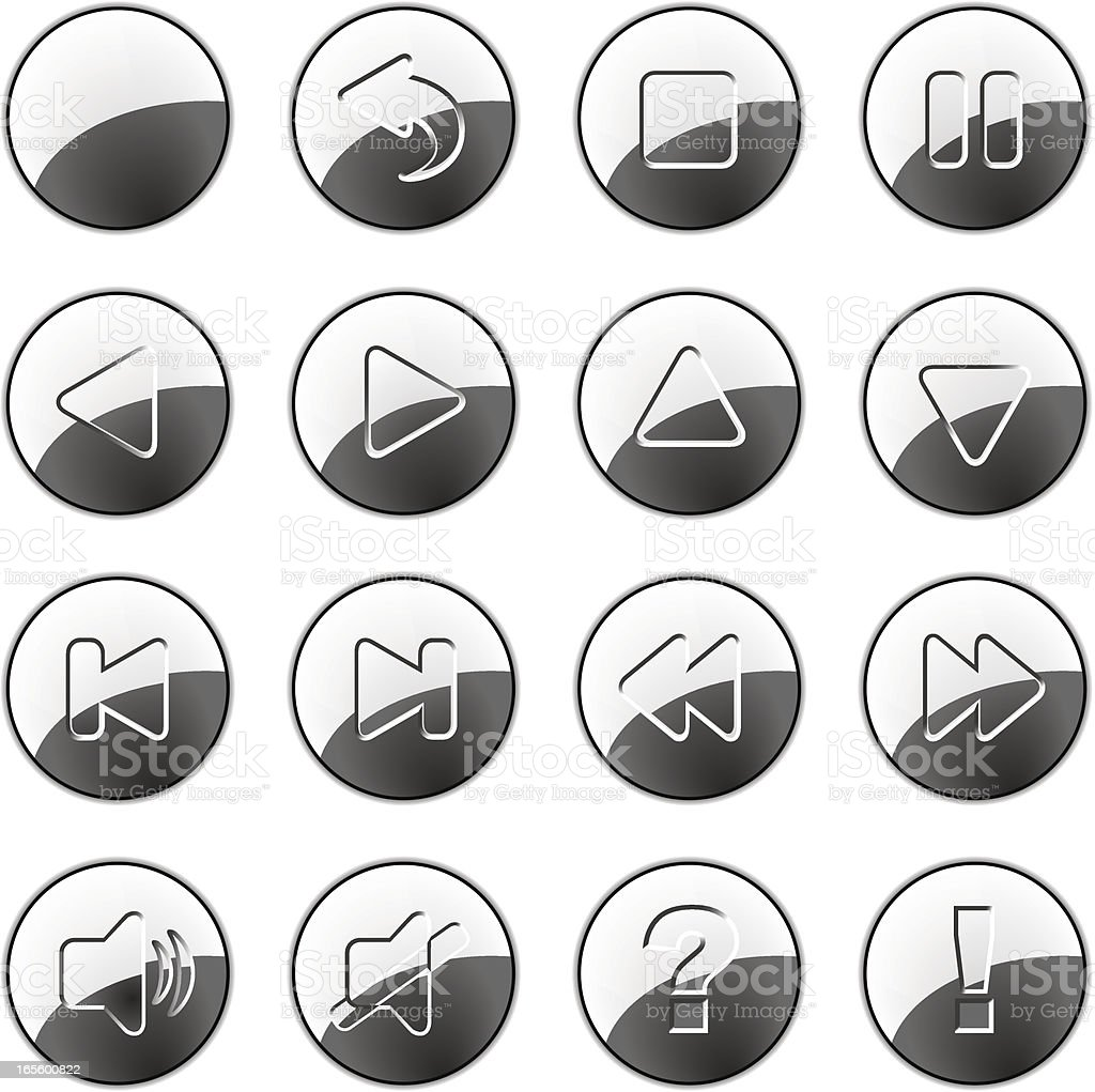 Silver buttons royalty-free stock vector art
