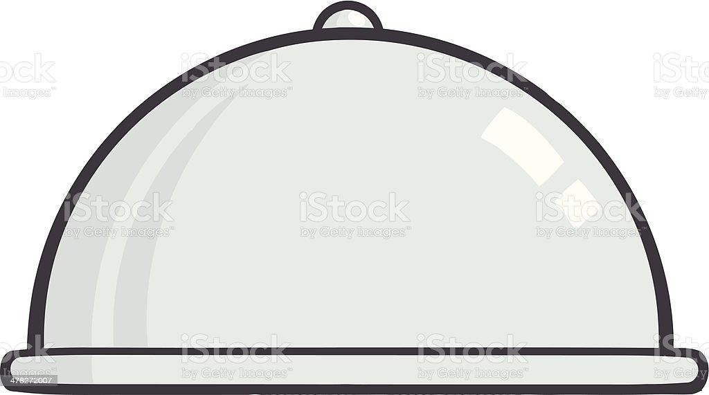 Silver Chef Platter vector art illustration