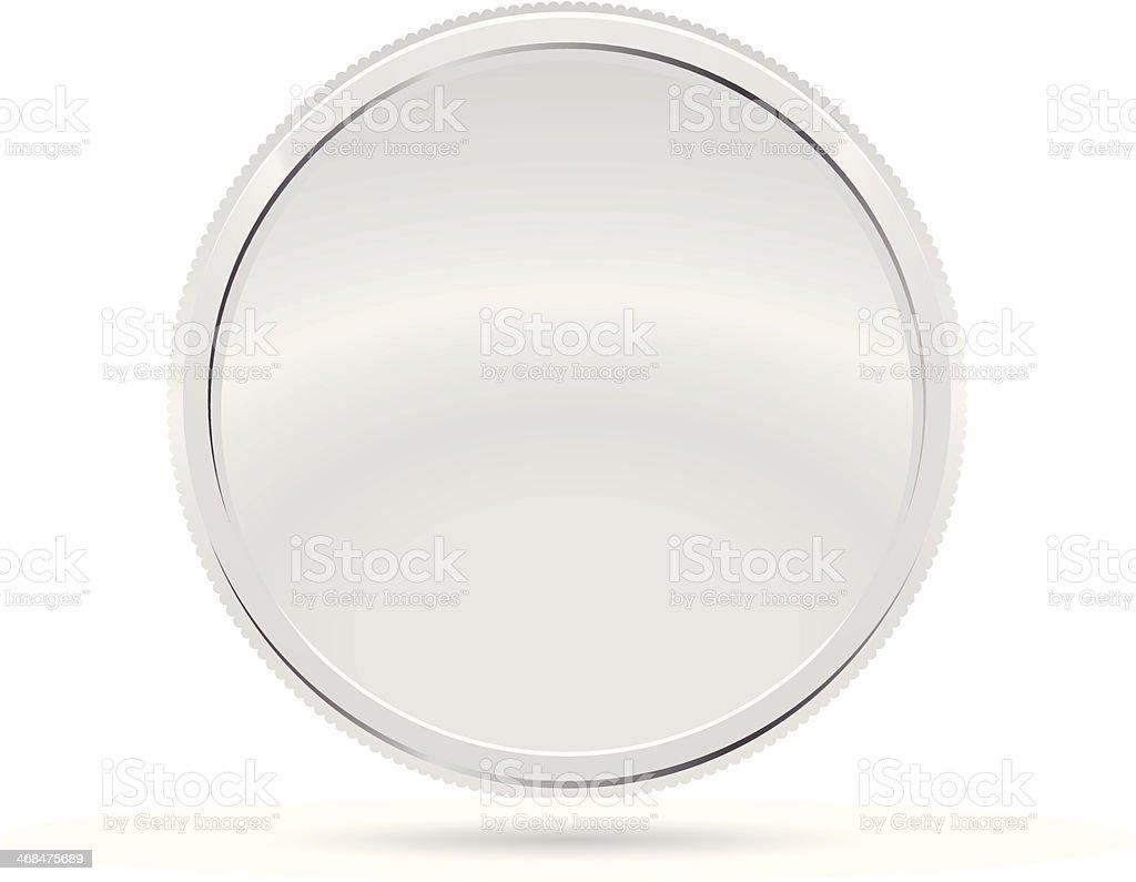 Silver Coin, Medal royalty-free stock vector art