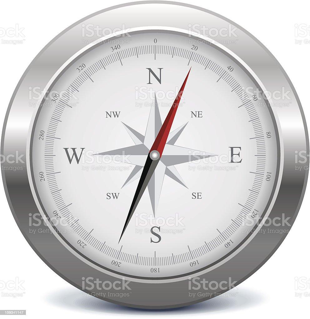 Silver compass royalty-free stock vector art