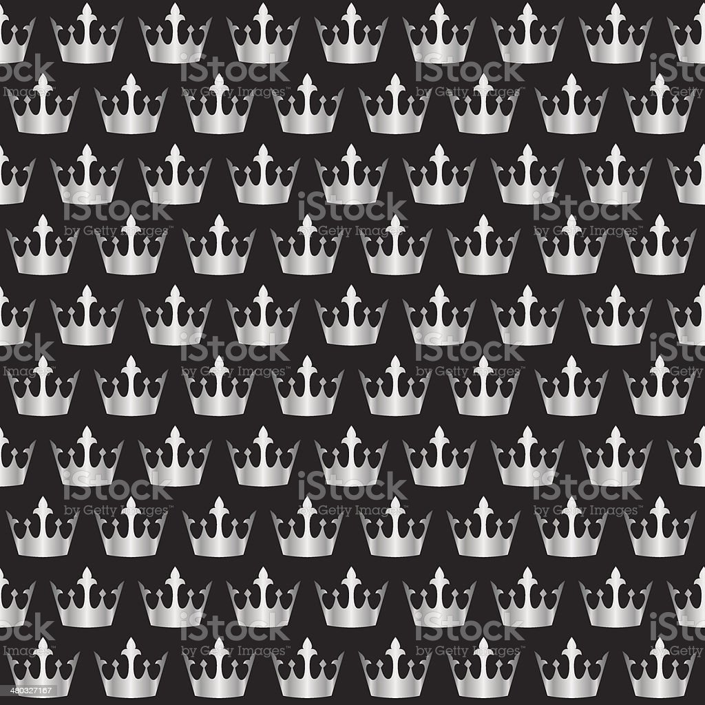 silver crowns pattern royalty-free stock vector art
