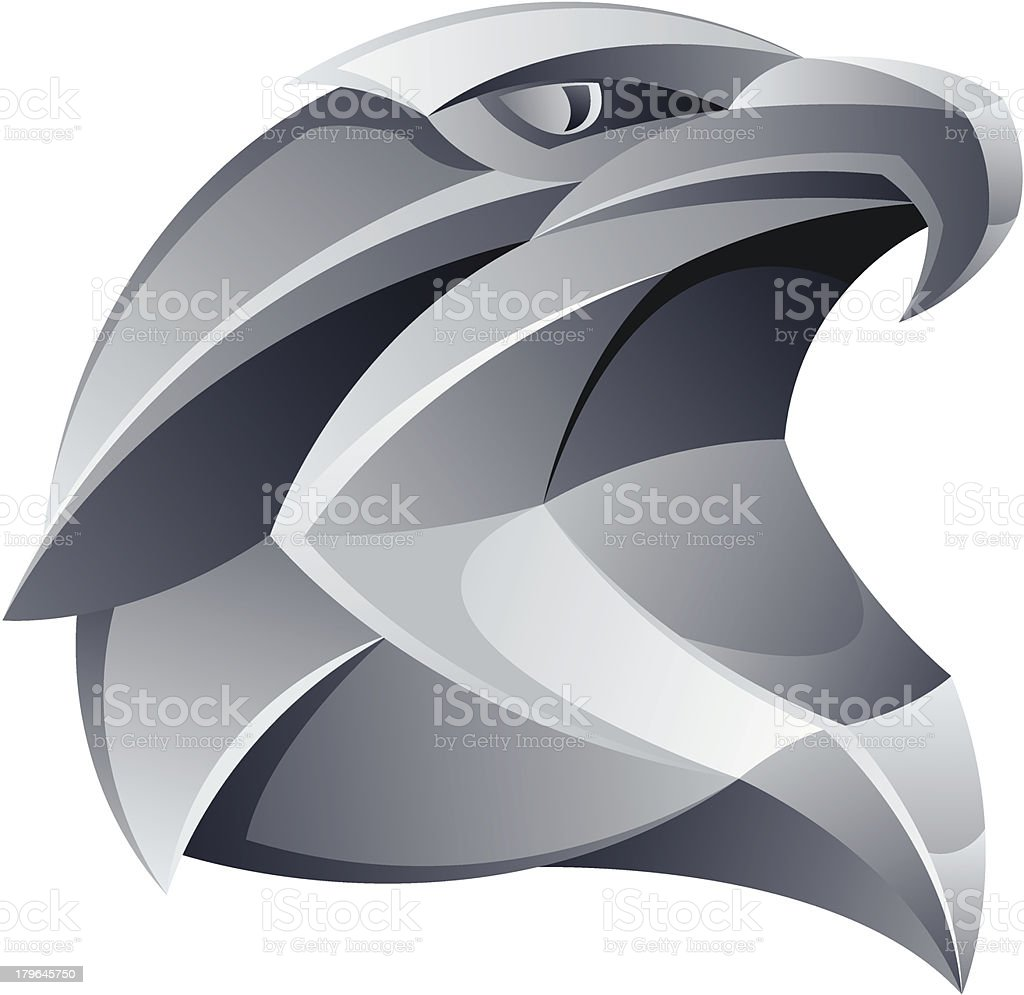 Silver eagle head royalty-free stock vector art