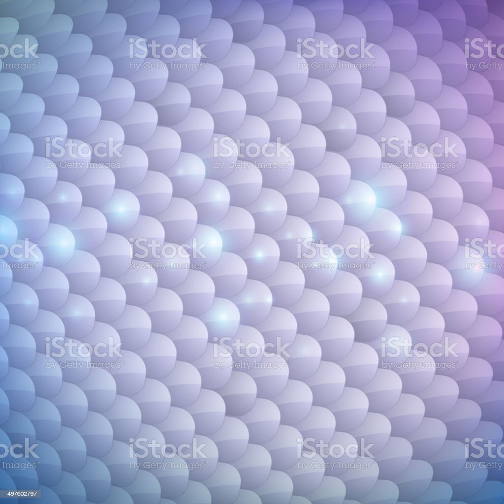 Silver fish scales glossy background. vector art illustration