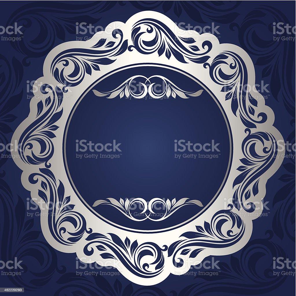 Silver frame royalty-free stock vector art