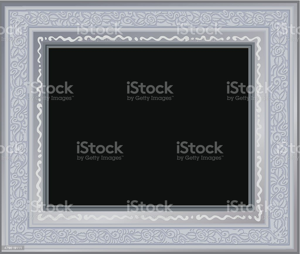 Silver frame royalty-free stock vector art