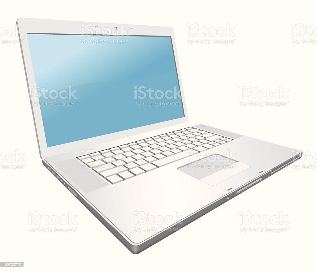 Silver laptop royalty-free stock vector art