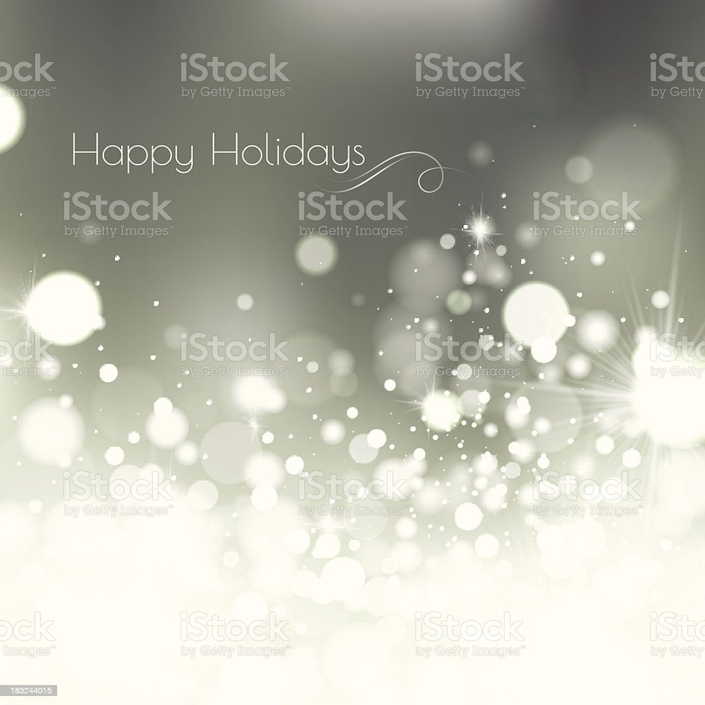 Silver Lights Holiday Background royalty-free stock vector art