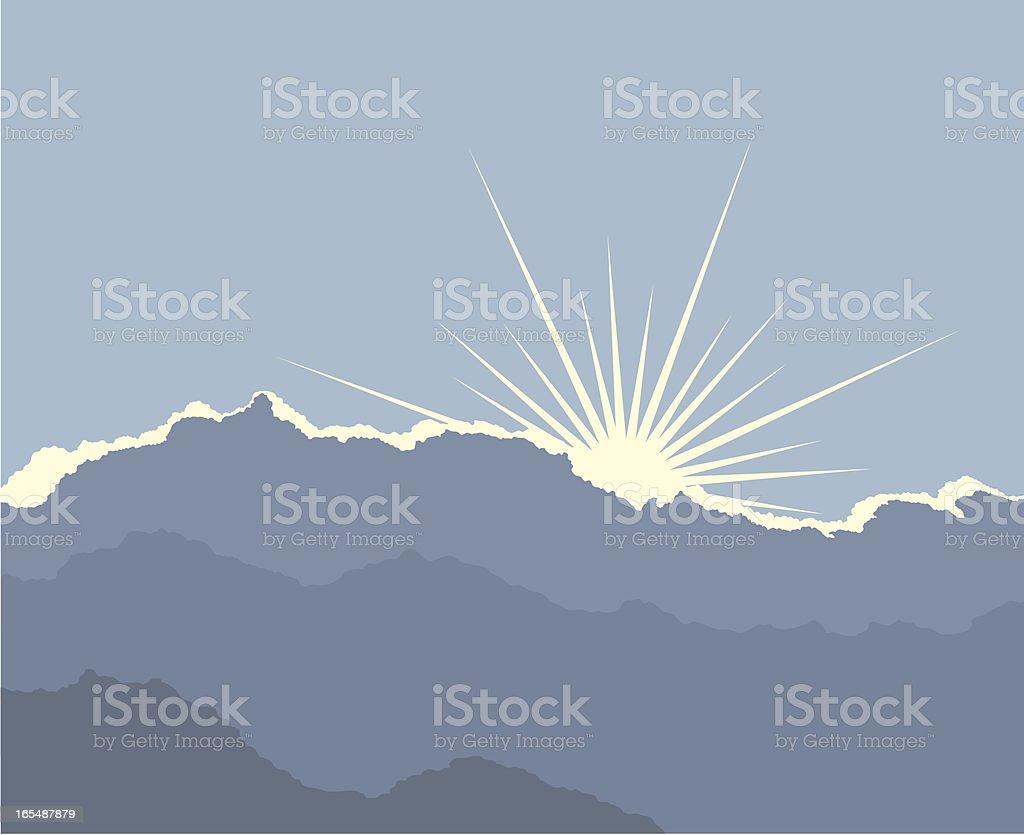 Silver lining vector art illustration