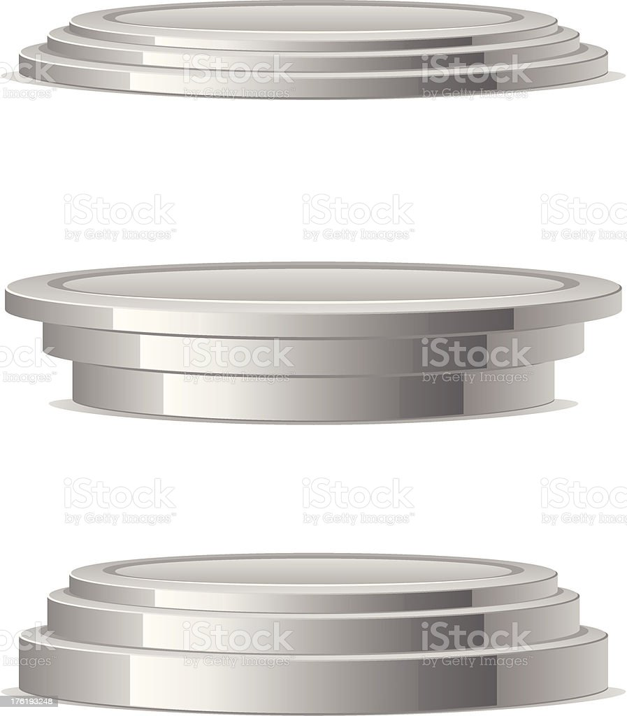 Silver podium royalty-free stock vector art