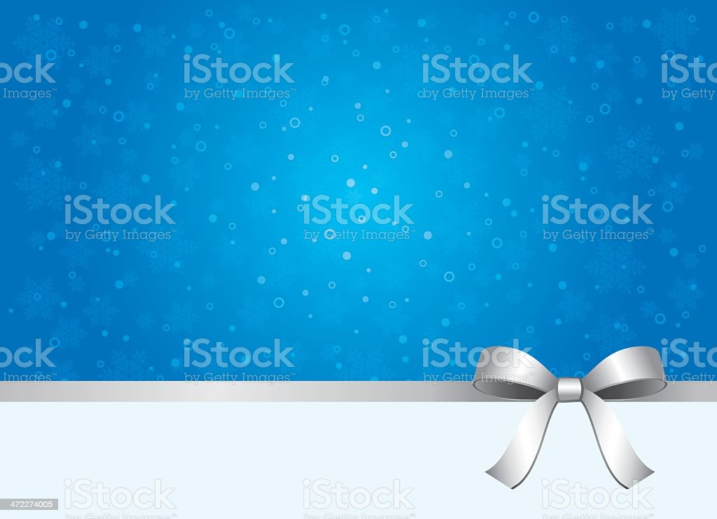 A silver ribbon against a background that is blue and white royalty-free stock vector art