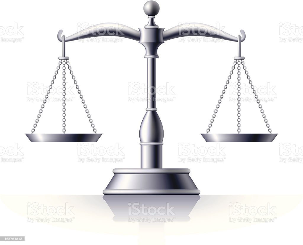 Silver Scale of Justice royalty-free stock vector art