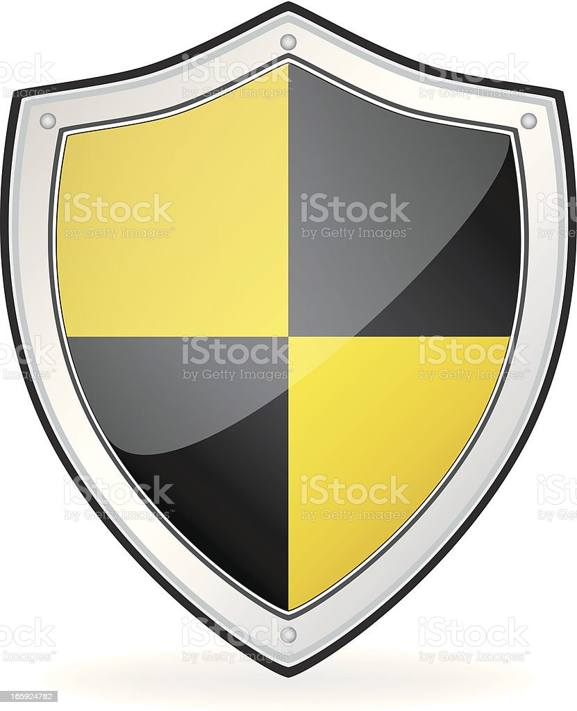 Silver Security Shield royalty-free stock vector art