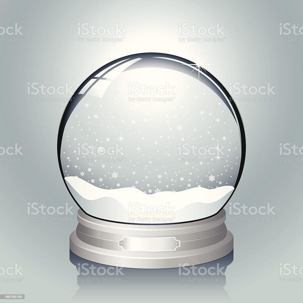 Silver Snow Globe royalty-free stock vector art