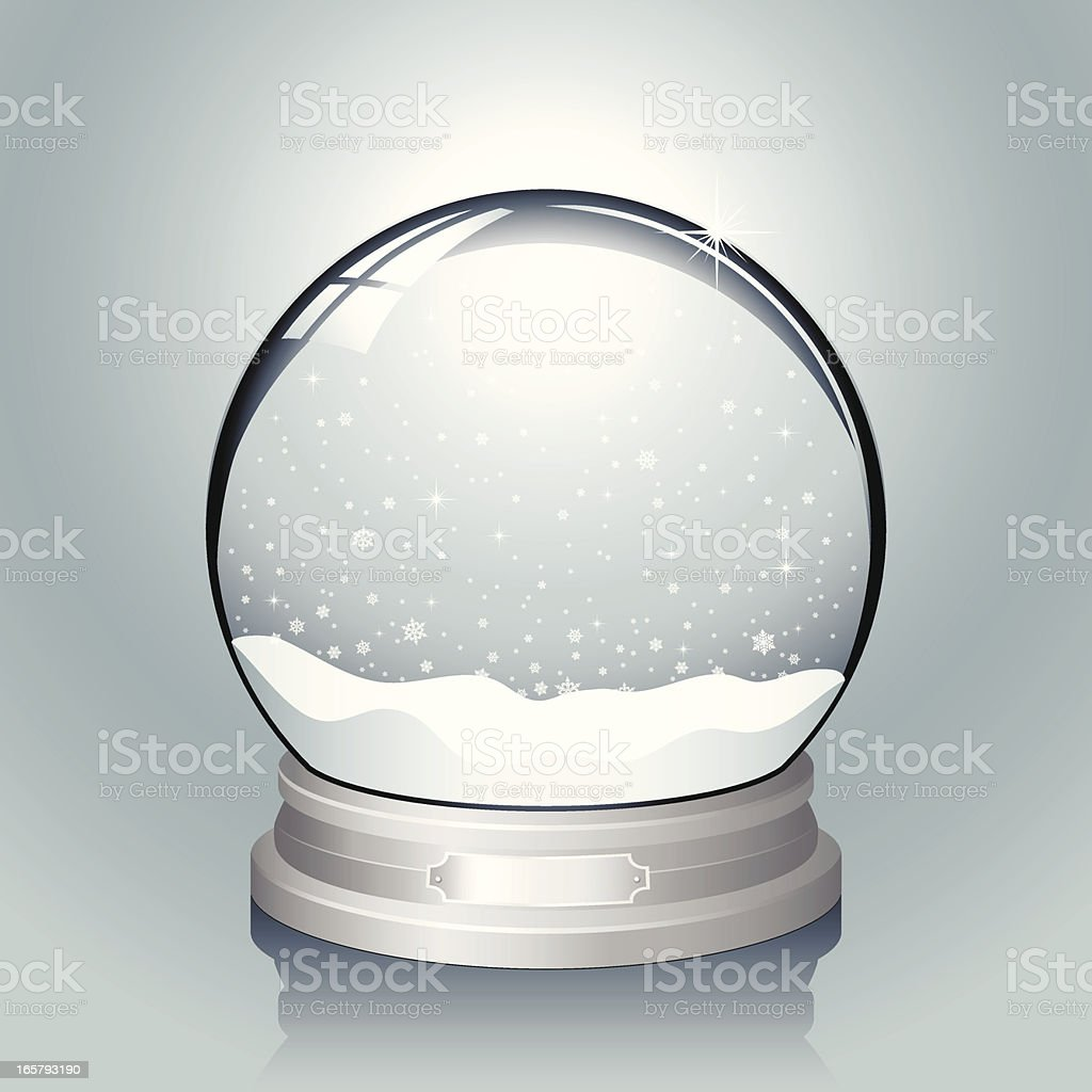 Silver Snow Globe vector art illustration