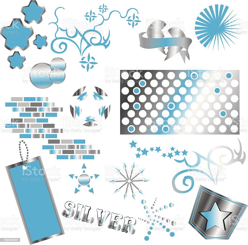 Silver Symbols royalty-free stock vector art