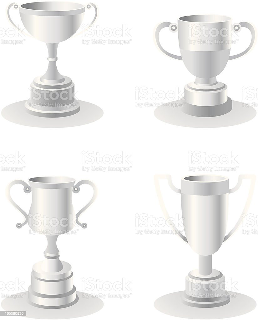 Silver trophies royalty-free stock vector art
