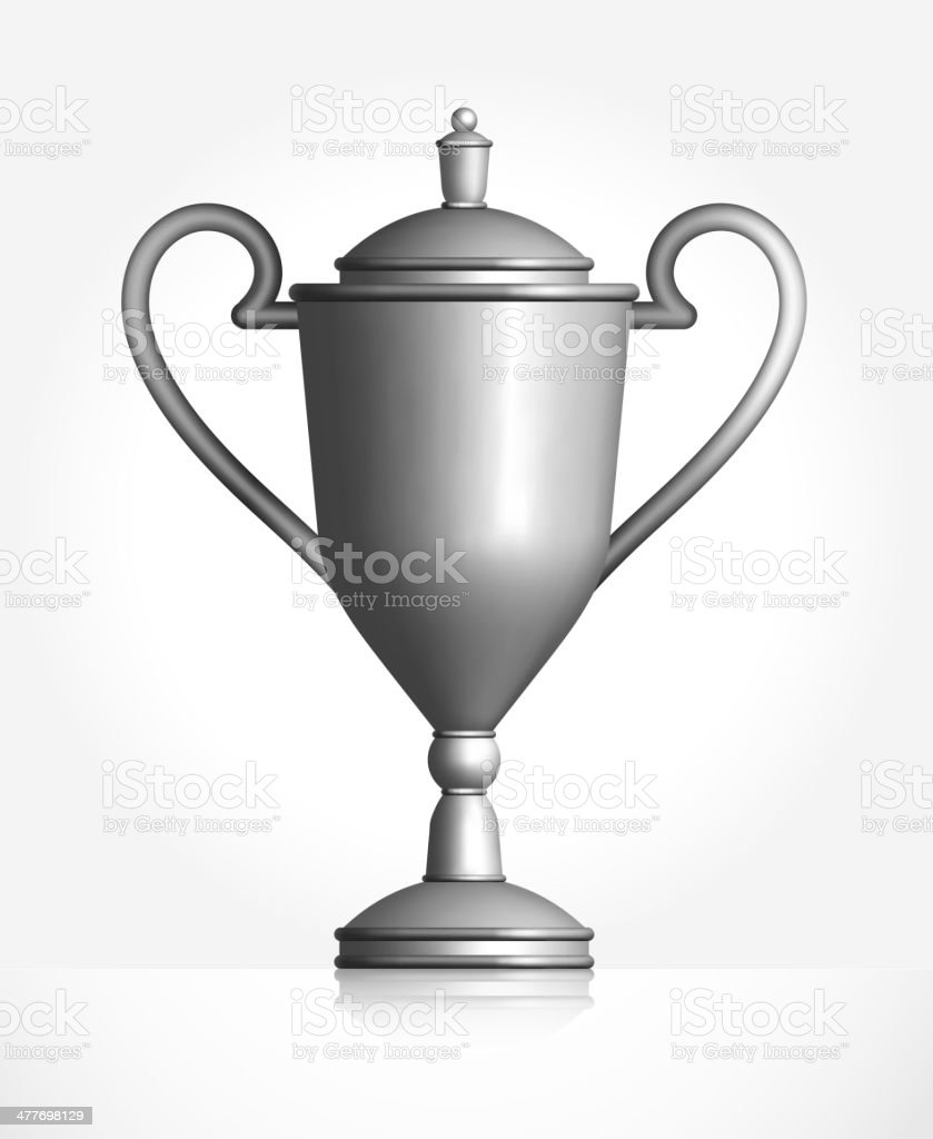 Silver Trophy royalty-free stock vector art