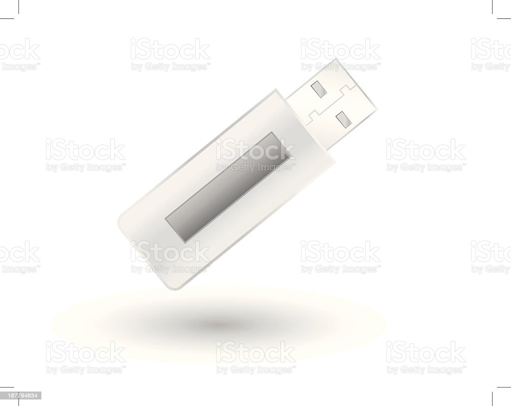 Silver USB Pendrive royalty-free stock vector art