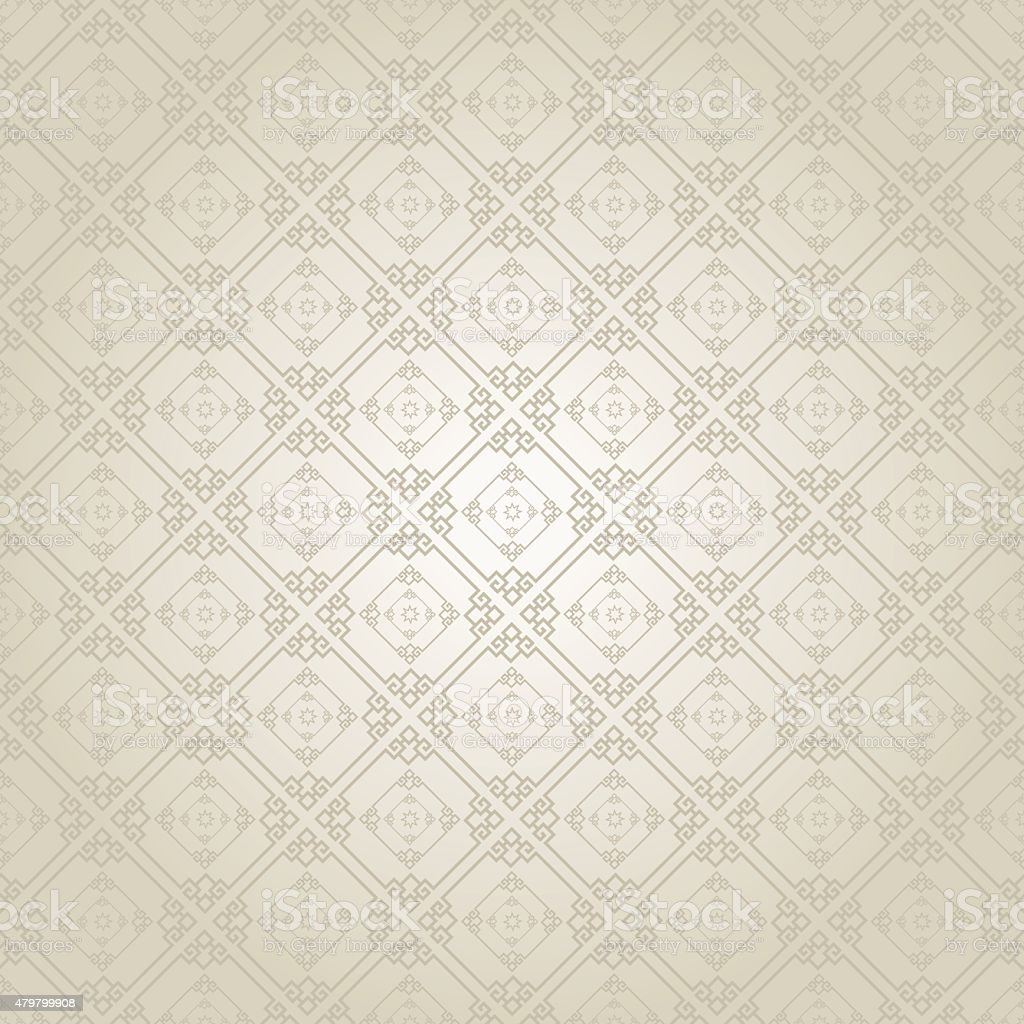 Silver Wallpaper Pattern vector art illustration