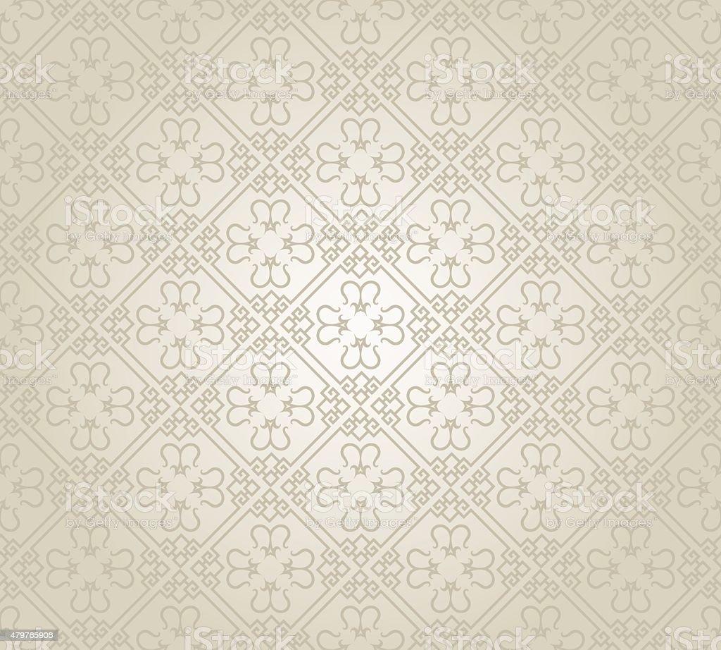 Silver Wallpaper Pattern vector art illustration