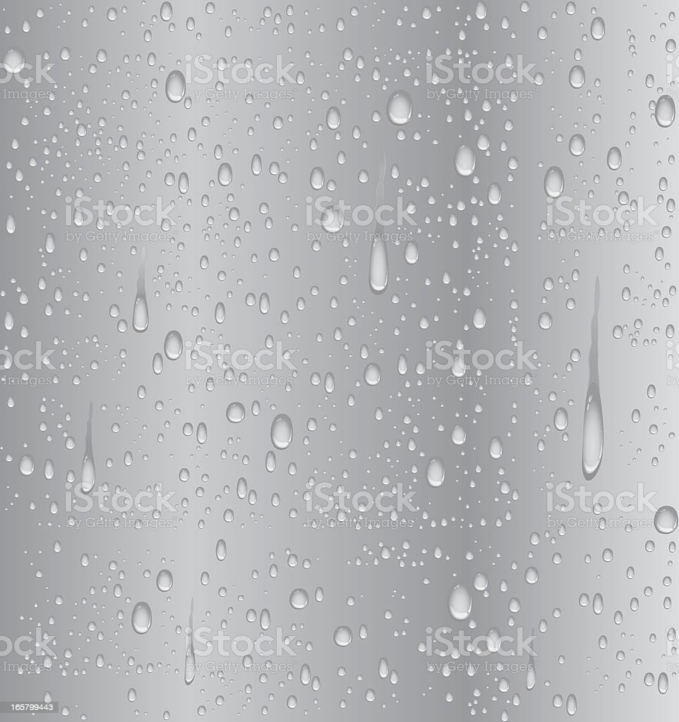 Silver water droplet vector art illustration