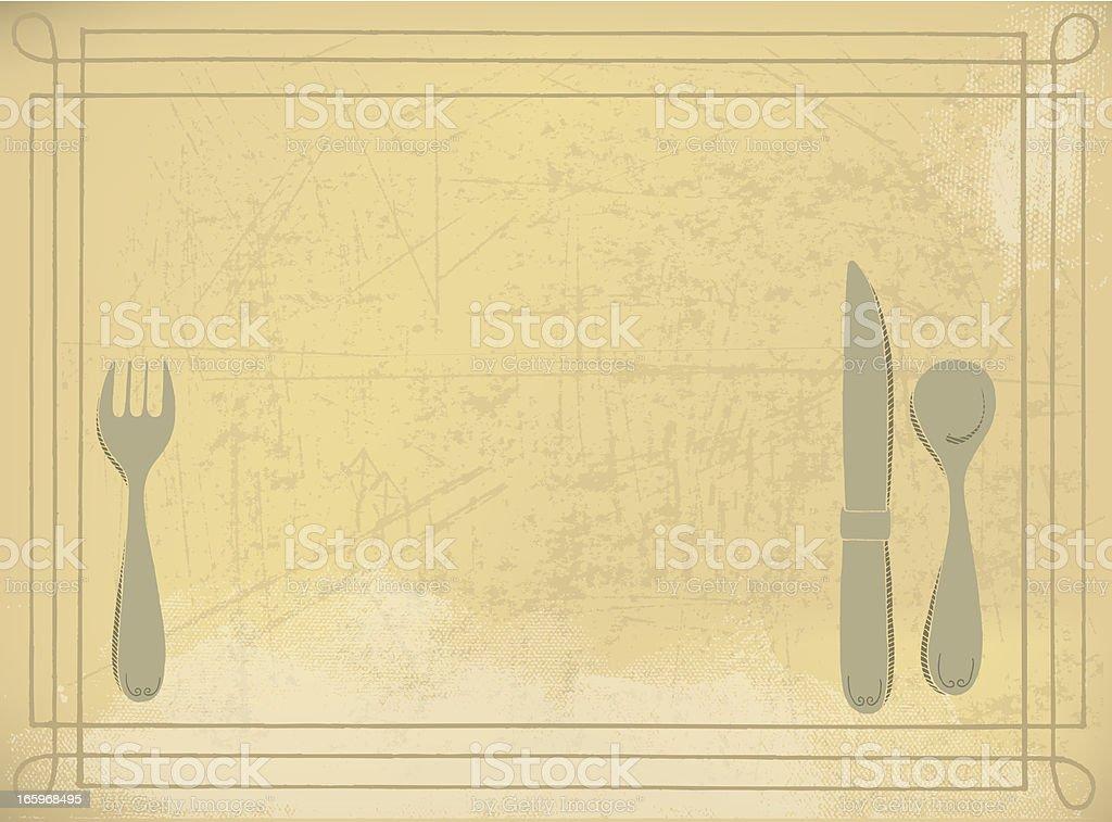 Silverware Background - Retro royalty-free stock vector art