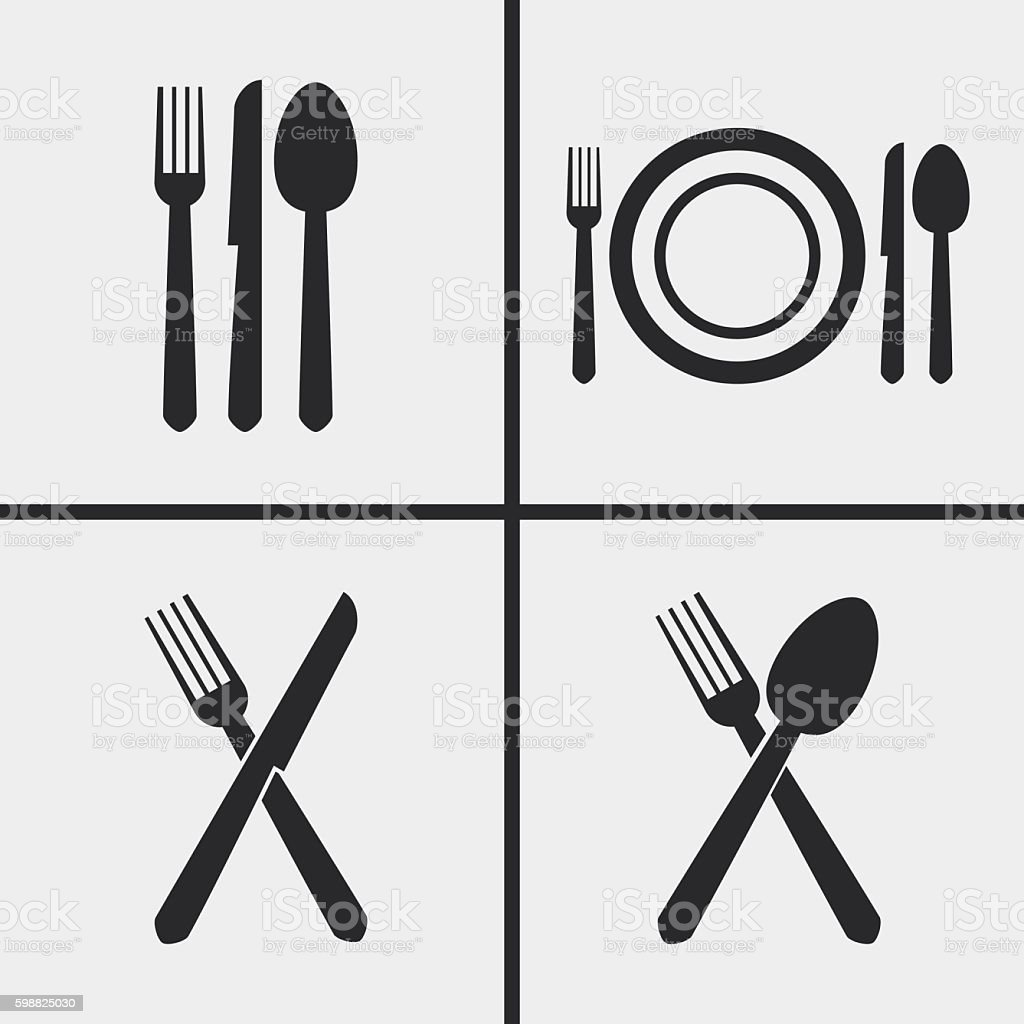 Silverware Cutlery - Illustration vector art illustration