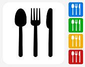 Silverware Icon Flat Graphic Design