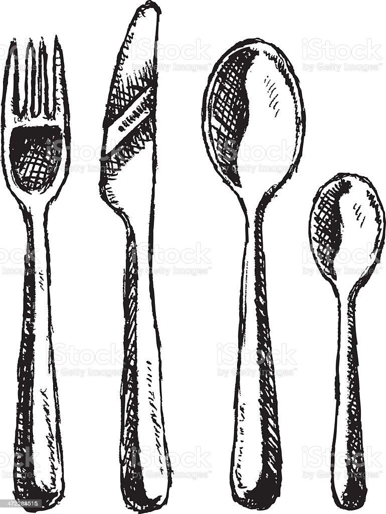 Silverware vector art illustration