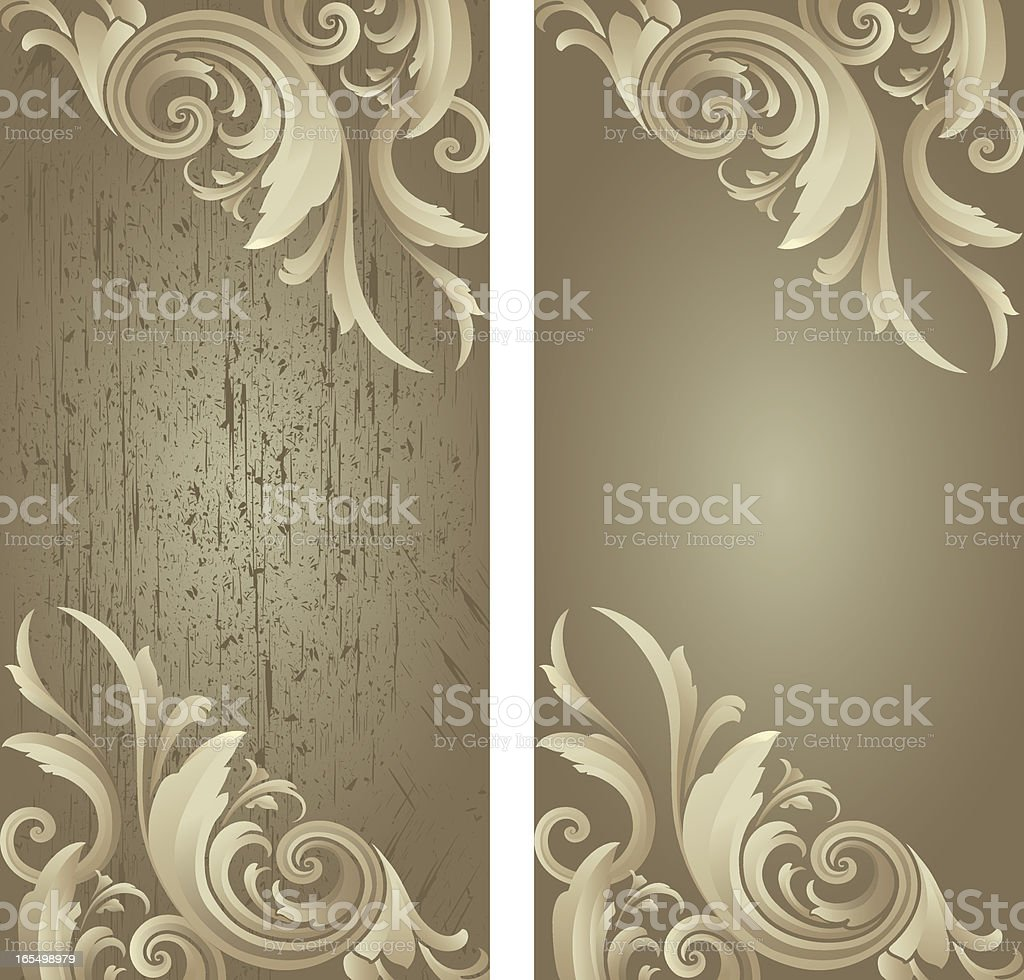 Silvery Scroll Grunge royalty-free stock vector art