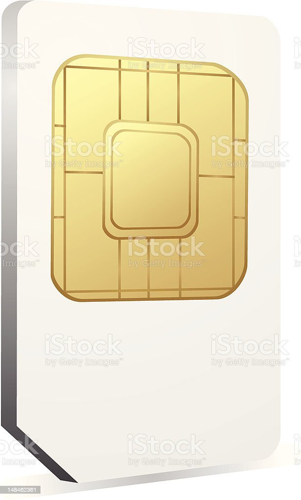 Sim card icon vector art illustration