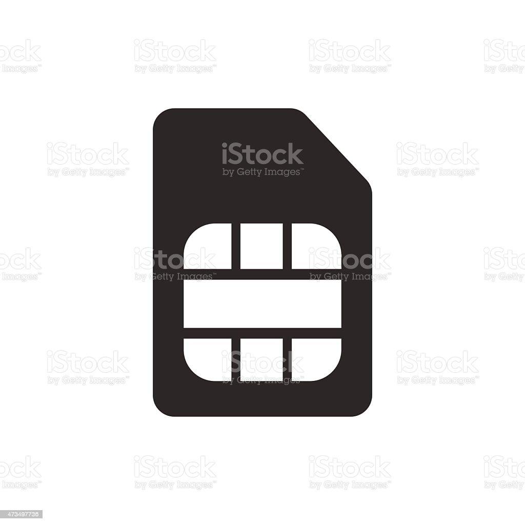 sim card symbol icon vector illustration eps10 on white backgrou vector art illustration