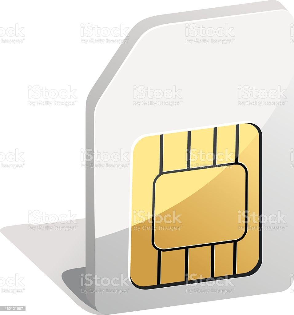 sim card vector art illustration